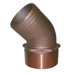 45 Degree Bronze Pipe to Hose Adapters