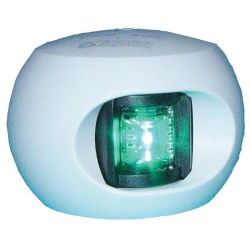 Aqua Signal Series 34 LED Navigation Lights - Starboard Side, White Housing