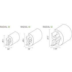 Radial Soft Profile Rub Rail - Tessilmare from Mate USA | Fisheries