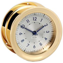 Polaris 12/24 Clock - Brass
