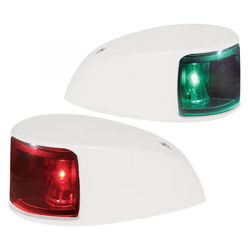 2NM NaviLED Deck Mount Port & Starboard Pair - White, Colored Lens