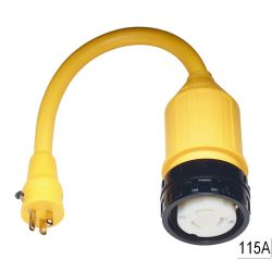 50A 125V(F) TO 15A 125V(M) ADAPTER
