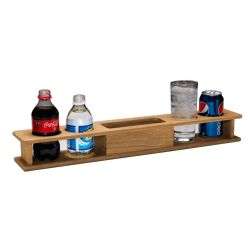 Whitecap Industries Four Drink Teak Holder with Tray