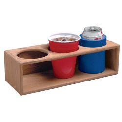 Teak Three Insulated Drink or Bottle Rack
