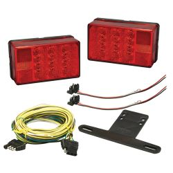 Waterproof LED Trailer Rear Tail Light Kit - Over 80""