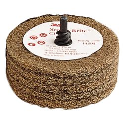 """Scotch-Brite CPD5-S Polishing Disc - with 1/4"""" Shaft"""