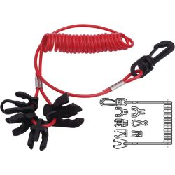 Lanyard for Universal Kill Switch - with 7 Keys