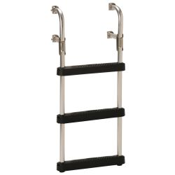 Discontinued: Transom Ladder With Black Poly Steps
