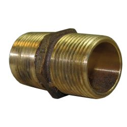 "1//2/"" NPT Cast-in wrench flat simplifies installation GROCO Bronze Pipe Nipple"