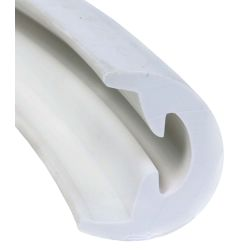 Radial Rub Rail - Soft External Cover Only - White