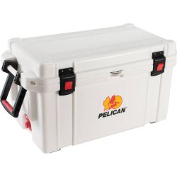 angle view of Pelican 65 Qt Elite Marine Cooler