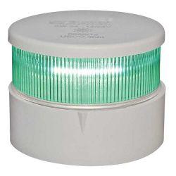Aqua Signal Series 34 LED All-Round Navigation Light Green Beam White Housing