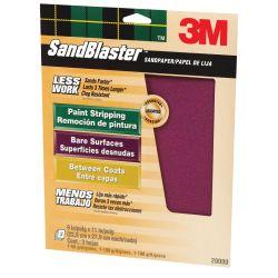 Discontinued: SandBlaster Sandpaper Sheets with No-Slip Grip Backing - Retail Packs