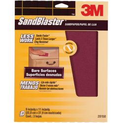 SandBlaster Sandpaper Sheets with No-Slip Grip Backing - Retail Packs