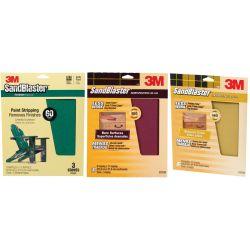 SandBlaster Sandpaper Sheets with No-Slip Grip Backing - Retail Packs