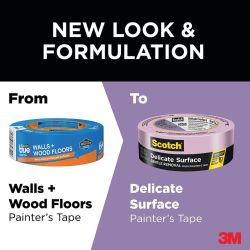 2080 Delicate Surface Purple Painter's Masking Tape - Safe Release