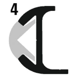 ALUM INSERT RUB RAIL 1 5/16IN X 12FT