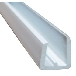 1/4IN WHT SGL GLASS CHANNEL (8FT)