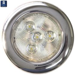 "3"" Stainless LED Surf. Mnt Puck Light - Warm White"