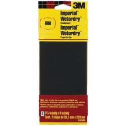 Discontinued: Wet or Dry Sandpaper Sheets - Silicon Carbide Abrasive, 5-Pack