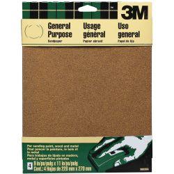 Aluminum Oxide Sandpaper Sheets - 5-Pack