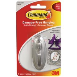 Command Traditional Plastic Hook - Adhesive Backed