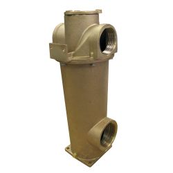 AARGA Series All Bronze Raw Water Strainer - with Choice of Two Outflow Ports