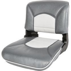 Profile Guide Series Boat Seat & Cushion Combo - Charcoal/Gray Perf