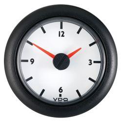 """2-1/16"""" Analog Clock 12V DC - White Dial"""