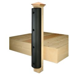 "Medium Double Lip Dock Bumper for 6 x 6 Posts - 7-1/2"" Wide"