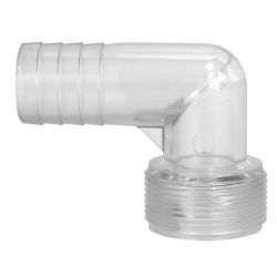 Clear View Hose Adapters - 90 Degree Elbows