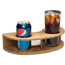 Teak Curved Two Drink Rack