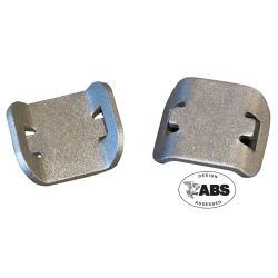 "AT-9 Glue-On Aluminum Wire Tie Mounts - Use With Up to 3/8"" Wide Wire Ties"