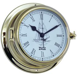 Discontinued: Endurance II 135 Quartz Clock w/Ship Graphics - Brass