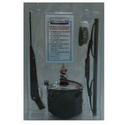 Light Duty Waterproof Wiper Motor Kit with Arm & Blade - Black Motor Case