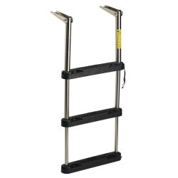 EEz-In Over Platform Telescoping Ladder With Black Poly Steps