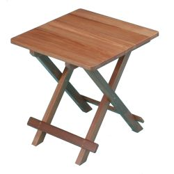 Solid Top Teak Fold-Away Table