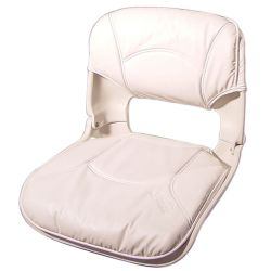 Low Back All-Weather Boat Seat & Cushion Combo - White