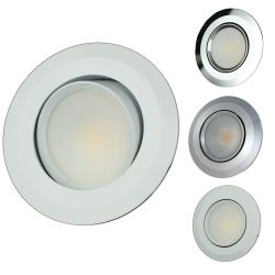 "Recessed 3-1/2"" COB LED Light - with Swivel Lens"