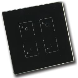 RF Light Dimmer - 2 Zone Wall Mount Transmitter/Controller