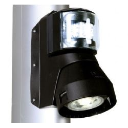 Series 43 LED Combination Masthead/Foredeck Navigation Light - Black