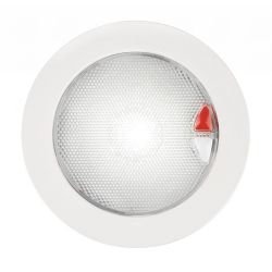 EuroLED Touch Lamp - Warm White/Red, White Bezel