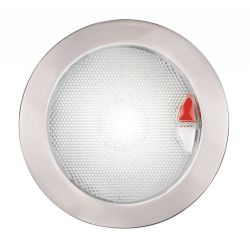 EuroLED Touch Lamp - Warm White/Red, Stainless Bezel