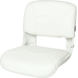 High Back All-Weather Boat Seat & Cushion Combo - White