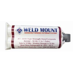 AT-8040 Non-Sagging Acrylic Adhesive - for Metals, High-Strength, Fast-Setting
