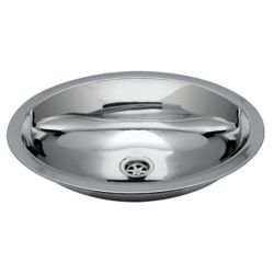 Oval Sink - Mirror SS Finish With Mounting Studs