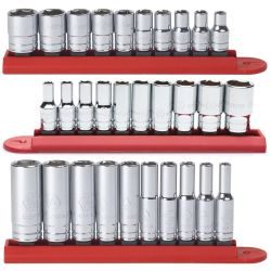 10 Pc. 1/4in Drive 6 Point SAE Socket Set