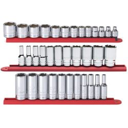 3/8in. Drive 6 Point SAE Socket Set