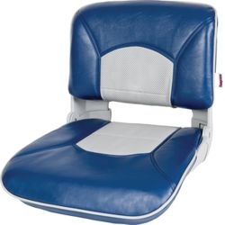 Profile Guide Series Boat Seat & Cushion Combo - Blue/Gray Perf