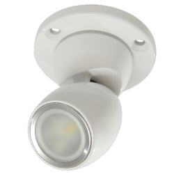 GAI2 Directional LED Light with Heavy Duty Base - White Finish, No Switch